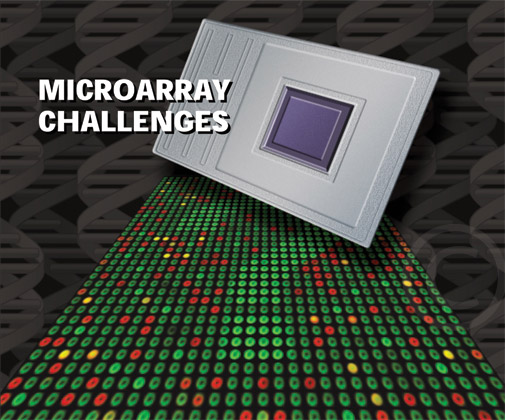 Microarray Challenges Illustration from The Scientist Magazine